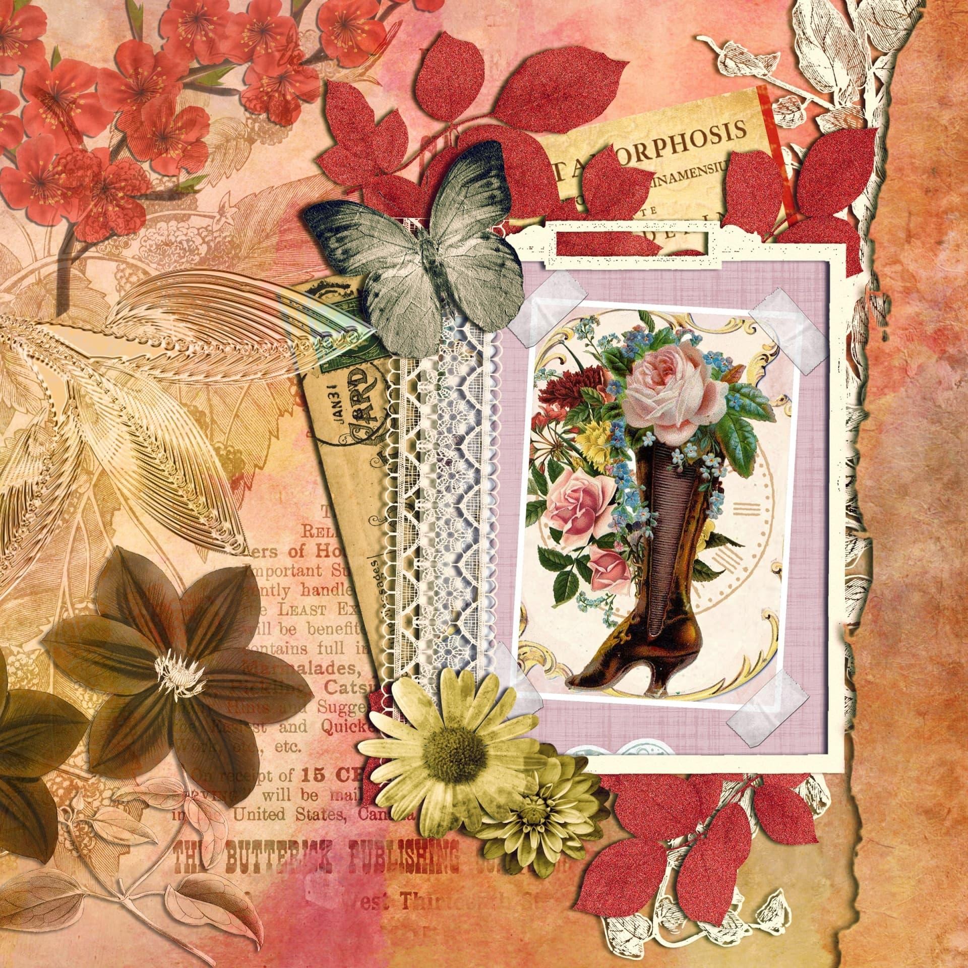arte de crear, para poder archivar y decorar nuestras fotografías y recuerdos en forma de álbum o cuaderno de recortes